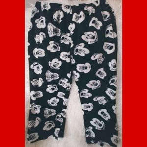 Black and white Mickey Mouse pj bottoms
